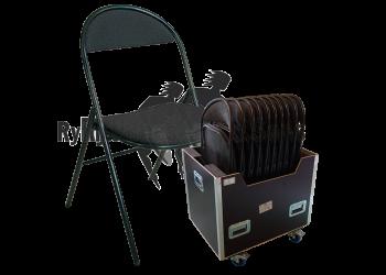 chaises noires pliantes
